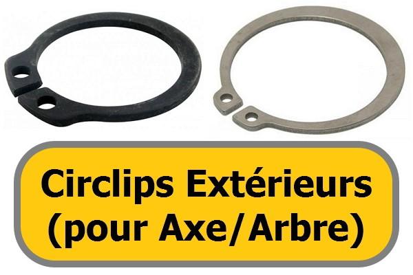 CIRCLIPS EXTERIEURS (pour<br>arbre)
