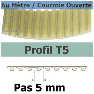 Courroie Crantée 2700T5/10 mm PU Acier Jonctionnée Sans Fin